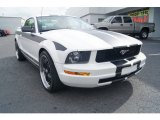 2005 Performance White Ford Mustang V6 Deluxe Coupe #66951745