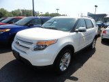 2013 White Platinum Tri-Coat Ford Explorer Limited 4WD #66952023