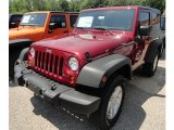 2012 Deep Cherry Red Crystal Pearl Jeep Wrangler Sport S 4x4 #66952013