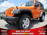 2012 Crush Orange Jeep Wrangler Sport 4x4 #66951704
