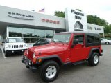 2006 Flame Red Jeep Wrangler Unlimited 4x4 #67012305