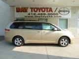 2012 Sandy Beach Metallic Toyota Sienna LE #67011933