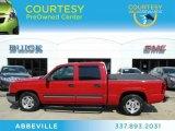 2005 Victory Red Chevrolet Silverado 1500 LS Crew Cab #67012577