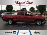 2005 Sport Red Metallic Chevrolet Silverado 1500 LS Crew Cab #67011878