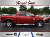 2012 Deep Cherry Red Crystal Pearl Dodge Ram 1500 Laramie Longhorn Crew Cab 4x4 #67011868
