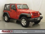 2011 Flame Red Jeep Wrangler Sport S 4x4 #67012222