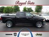 2012 Black Dodge Ram 1500 Laramie Crew Cab 4x4 #67012543