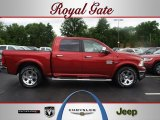 2012 Deep Cherry Red Crystal Pearl Dodge Ram 1500 Laramie Longhorn Crew Cab 4x4 #67012537