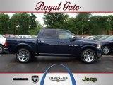 2012 True Blue Pearl Dodge Ram 1500 Laramie Crew Cab 4x4 #67012533