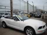 2007 Performance White Ford Mustang V6 Deluxe Convertible #6562256