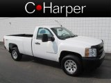 2008 Summit White Chevrolet Silverado 1500 Work Truck Regular Cab 4x4 #67012471