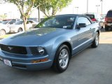 2007 Windveil Blue Metallic Ford Mustang V6 Premium Convertible #6562324