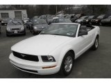 2007 Performance White Ford Mustang V6 Deluxe Convertible #6571975