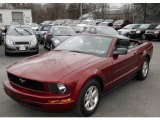 2007 Redfire Metallic Ford Mustang V6 Deluxe Convertible #6571976