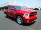2012 Deep Cherry Red Crystal Pearl Dodge Ram 1500 Express Quad Cab 4x4 #67012395