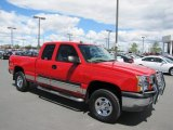 2004 Victory Red Chevrolet Silverado 1500 LS Extended Cab 4x4 #67012354