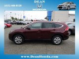 2012 Basque Red Pearl II Honda CR-V EX-L 4WD #67073833