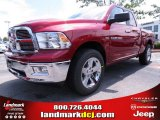 2012 Deep Cherry Red Crystal Pearl Dodge Ram 1500 Big Horn Quad Cab #67104143
