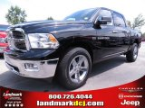 2012 Black Dodge Ram 1500 Big Horn Crew Cab 4x4 #67104142