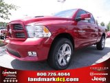 2012 Deep Cherry Red Crystal Pearl Dodge Ram 1500 Sport Quad Cab #67104137