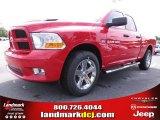2012 Flame Red Dodge Ram 1500 Express Quad Cab #67104136