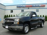 2004 Black Chevrolet Silverado 1500 LS Regular Cab 4x4 #67104568