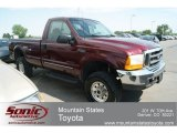 2000 Dark Toreador Red Metallic Ford F250 Super Duty XLT Regular Cab 4x4 #67146893