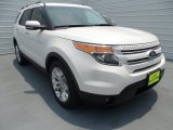 2013 White Platinum Tri-Coat Ford Explorer Limited #67147193
