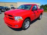 2012 Flame Red Dodge Ram 1500 Express Regular Cab #67213498