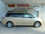 2012 Sandy Beach Metallic Toyota Sienna LE #67213119