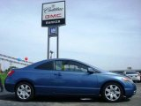 2007 Atomic Blue Metallic Honda Civic LX Coupe #6560628