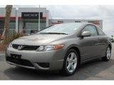 2007 Galaxy Gray Metallic Honda Civic EX Coupe #6570424
