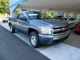 2008 Blue Granite Metallic Chevrolet Silverado 1500 LT Extended Cab 4x4 #67213048