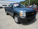 2009 Blue Granite Metallic Chevrolet Silverado 1500 Regular Cab 4x4 #67213047