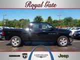 2012 Black Dodge Ram 1500 Big Horn Quad Cab 4x4 #67213658