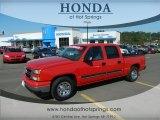 2007 Victory Red Chevrolet Silverado 1500 Classic LS Crew Cab #67213311
