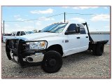 2007 Bright White Dodge Ram 3500 SLT Quad Cab 4x4 Dually Chassis #67213277
