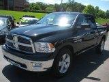 2010 Brilliant Black Crystal Pearl Dodge Ram 1500 Big Horn Quad Cab 4x4 #67213548