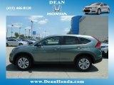 2012 Opal Sage Metallic Honda CR-V EX 4WD #67213534
