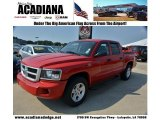 2010 Flame Red Dodge Dakota Big Horn Crew Cab 4x4 #67270924