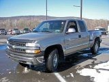 2000 Light Pewter Metallic Chevrolet Silverado 1500 LT Extended Cab 4x4 #6639179