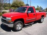 2000 Victory Red Chevrolet Silverado 1500 LS Regular Cab 4x4 #6570167