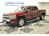 2009 Deep Ruby Red Metallic Chevrolet Silverado 1500 LT Z71 Crew Cab 4x4 #67271475