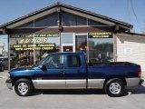 1999 Indigo Blue Metallic Chevrolet Silverado 1500 LS Extended Cab #6645682