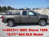 2013 Mocha Steel Metallic GMC Sierra 1500 SLE Extended Cab 4x4 #67271462