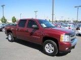 2008 Deep Ruby Metallic Chevrolet Silverado 1500 LT Crew Cab 4x4 #67271300