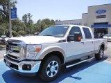 2012 White Platinum Metallic Tri-Coat Ford F250 Super Duty Lariat Crew Cab #67340284