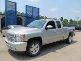 2013 Silver Ice Metallic Chevrolet Silverado 1500 LT Extended Cab 4x4 #67340265