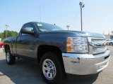 2012 Blue Granite Metallic Chevrolet Silverado 1500 Work Truck Regular Cab #67340487