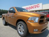 2012 Tequila Sunrise Pearl Dodge Ram 1500 Express Regular Cab #67340436